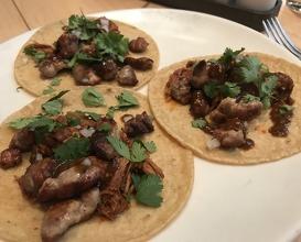 Lamb sweetbread taco