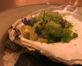 Beans from Skilleby and oysters from Mollösund with pickled onion