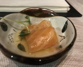 Salmon, Tyson's and soya sauce
