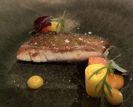 """Fillet of Arctic char with crispy bread skin, """"Pasnaille"""" and Yuzu zest"""