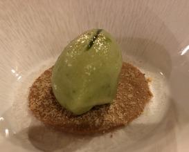 Green apple and wild sorrel sorbet