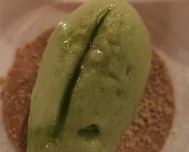 Green apple and wild sorrel sorbet