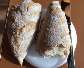 Bread and butter whipped with olive oil. Sel de Gris on the side