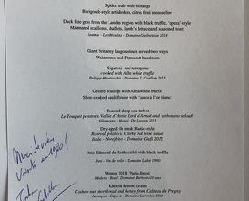 Signed menu