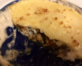 Another mushroom dish gratinated with polenta