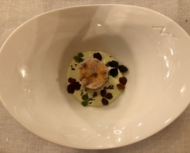As a tartare, smoked pike fish eggs, sorrel coulis