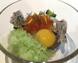 Ikura, sesame, kalamansi, cucumber