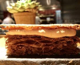Amuse bouche of foie gras millefeuille