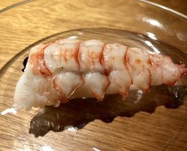 Langoustine 'sushi' stuffed with black rice