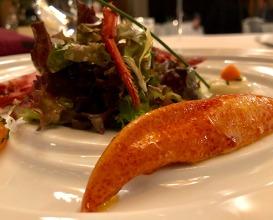 Lobster salad with cider vinegar