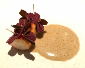 King crab with miso and oxalis