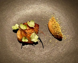 The last winter cabbage, lavender, caramelised yeast and chicken fat