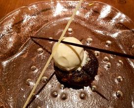Doda barfi treacle tart, vanilla bean ice cream