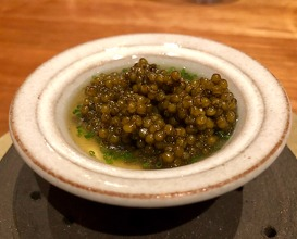 "Chawanmushi, frantzen ""prestige oscietra caviar"" , aged pork broth"