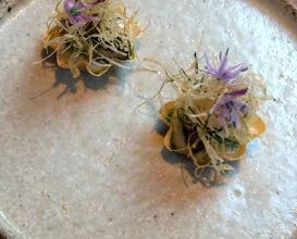 Yubu, pickled cucumber, cauliflower and glazed eel