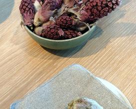 butterbur tempura - an off the menu item