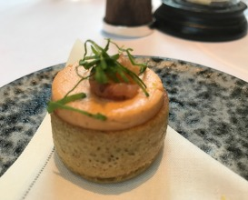 Potted shrimp and grab butter crumpets