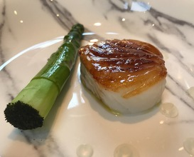 Cornish Cod Caramelised in Richmond Park Honey and Green Asparagus