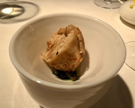 Celeriac grilled in Beachtree, bread of the shells, broth of the remains and oil of the stems