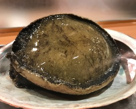 Abalone with its liver sauce