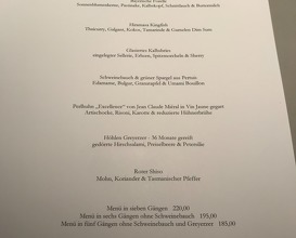 The best in south of Germany, Dinner at Atelier in Munich (im Hotel Bayerischer Hof)