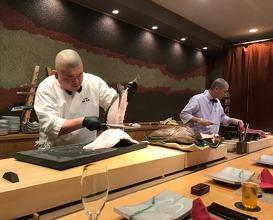 Kabuki sushi in Kitakyushu, dinner at Teru Sushi