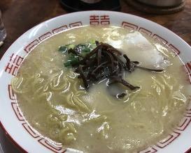 The Blue Bucket Ramen in Fukuoka, lunch at 元気一杯 (Genki Ippai)