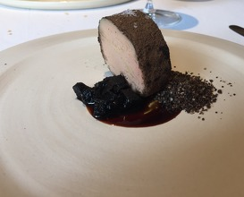 Foie gras with toasted malt & malt reduction