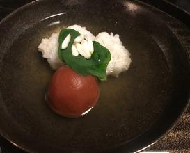 Hamo, dashi and plum