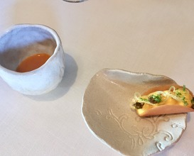 Medlar with yuzu, spearmint and palo cortado sherry- The taste was refreshing and had lovely texture.