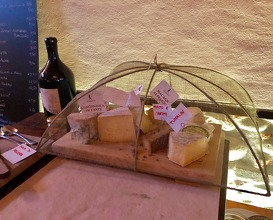 "Selection of cheeses together with ""Fiorenzo Giolito-Bra"""