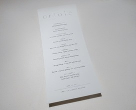 Dinner at Oriole