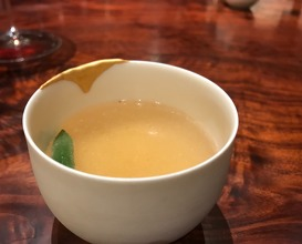 a broth made of the grilled bones