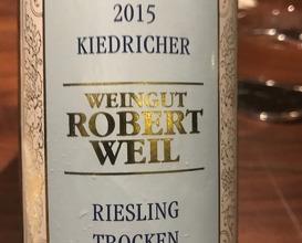 2015 Robert Weil, 'Kierdrich, Trocken, Rheingau, Germany