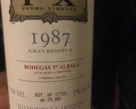 1987 Bodegas Toro Abala, 'Don PX, 'Montilla-Moriles, Spain