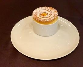 Grand Marnier soufflé with orange Icecream