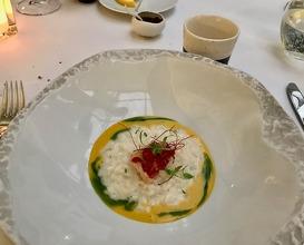 """Acquerello"" rice with lobster, coco, Mediterranean sake & bouillabaisse"