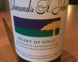 "Edmunds St. John ""Heart of Gold"" Vermentino Blend El Dorado, CA 2017"