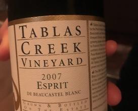 "Tablas Creek ""Esprit de Beaucastel"" White Rhône Blend, Paso Robles, CA 2007"