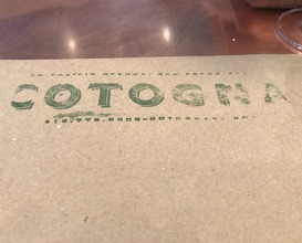 Lunch at Cotogna