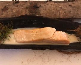 Truite du Léman, mariage lac et forêt, goût d'épicéa, et si l'on croyait que c'était un beurre blanc