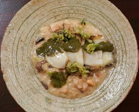 Dinner with spring ingredients at Godenya