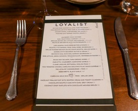 Dinner at The Loyalist