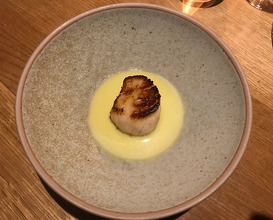 Scallop with Spruce