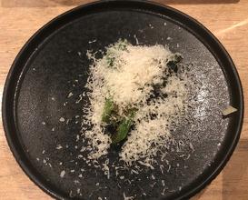 Grilled Brassicas, Black Garlic & Vacche Rosse