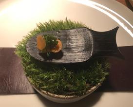 Pike perch, fermented carrot & woodruff