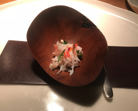 King crab, langoustine cream & marigold