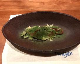lobster, crispy koshihikari rice, clarified butter- & ginger emulsion