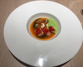 Carabineiro | Tomaten-Couscous l Aioli | Grüne Paprika