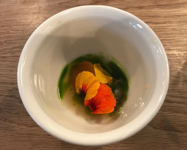 Native Oyster, Crab Apple & Nasturtium
